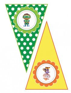 Super Why Whyatt Storybrook Village- Printable Banner Pennants