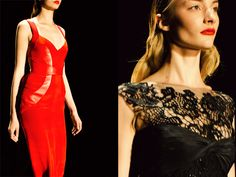 Monique Ihuillier's FW2012; dress on the right