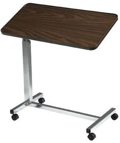 Deluxe Tilt Top Overbed Table :: rolling table for bed ridden