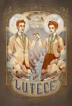Reddit user DaedalusMinion posted this Bioshock Infinite poster - Great Minds Think Alike #Gaming #Art