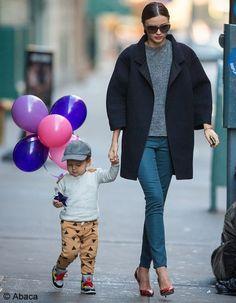 Miranda Kerr manteau oversize- Elle