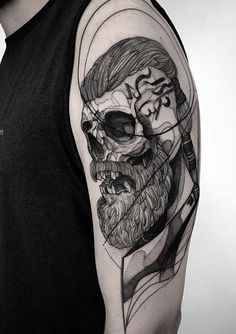 Awesome Arm Skull Tattoo