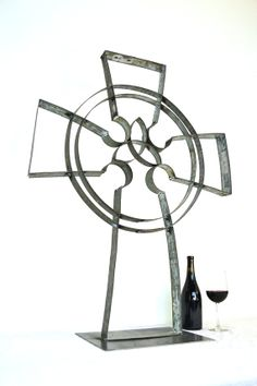 Celtic Cemetery Cross made from wine by winecountrycraftsman, $175.00