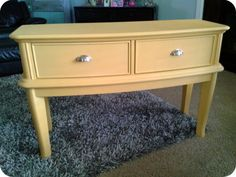 Gorgeous Annie Sloan Arles Yellow Painted Console/Sofa Table. $239.00, via Etsy.