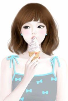 kawaii ice cream gifs - Buscar con Google