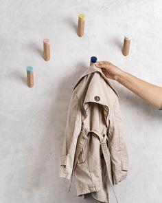 Wand-Haken, Eingangsbereich, Kleiderhaken, Kinder Zimmer Haken, WH-07 von loopdesignstudio auf Etsy https://www.etsy.com/de/listing/207870163/wand-haken-eingangsbereich-kleiderhaken