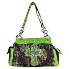 green camo purse