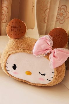 hello kitty biscuit pillow!