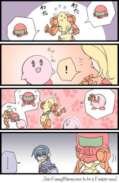 Kirby is like super man just rounder and more adorable, he even helps people when they lose personal items- kinda Super Smash Bros Memes, Nintendo Super Smash Bros, Super Mario Bros, Video Games Funny, Funny Games, All Mario Games, Geeks, Owlturd Comics, Super Smash Ultimate