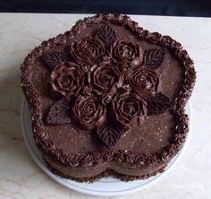 Gâteau butternut au chocolat fourré poire