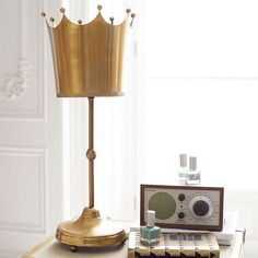 Gold Crown Lamp from PBteen Liapela.com