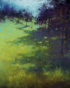 """Jane Christie """"Meadow Jewels"""" Pastel ~ so peaceful.I wanna go for a walk along that path and see where it takes me Pastel Landscape, Landscape Art, Landscape Paintings, Art Aquarelle, Pastel Art, Pastel Drawing, Paintings I Love, Pastel Paintings, Art Plastique"""