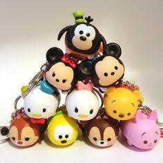 Miniature Kawaii Cute Tsum Tsum Keychains 10 por qminishop en Etsy