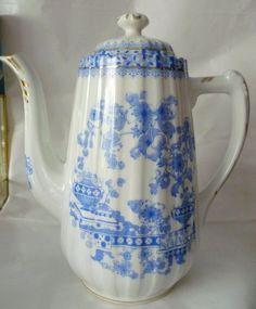 Krüge & Kannen - ♔China Blau Kaffeekanne Rosslau ♔ - ein Designerstück von cafe-antique bei DaWanda