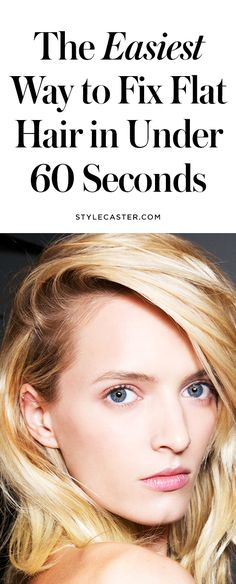 HAIR TIP: How to Fix Flat Hair the Easy Way | If you need a midday refresh or extra volume in general, this hair trick is for you