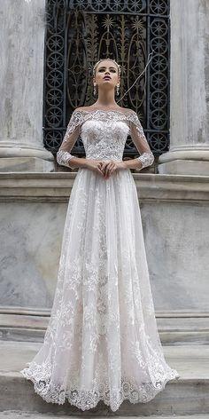 Modern Liretta Wedding Dresses 2018 ❤️ liretta wedding dresses with illusion sleeves off the shoulder lace modern 2018 ❤️ Full gallery: https://weddingdressesguide.com/liretta-wedding-dresses/ #bridalgown #weddingdresses2018 #wedding #bride
