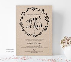 Elopement Announcement, Printable Elopement Invitation Template, Oh Yes We Did, We Eloped, Fully Edi Elopement Party, Elopement Reception, Wedding Reception Invitations, Reception Party, Elope Wedding, Post Wedding, Destination Wedding, Wedding Planning, Wedding Day