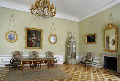 "Princess Marshall Lubomirska's Anteroom in the Wilanów Palace was rearranged for Izabela Lubomirska ""The Blue Marquise"" between 1781 and 1794 by Szymon Bogumił Zug"