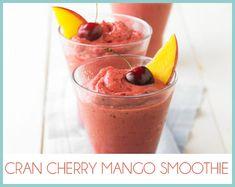 1/2 - 2/3 cup Ocean Spray® Cran•Cherry® Cherry Cranberry Juice Drink  1/4 - 1/2 cup Greek-style vanilla yogurt  1 cup frozen pitted cherries  1 cup frozen cubed mango