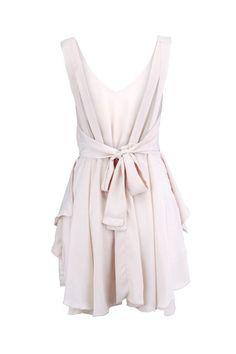 Backless Nude Shift Dress~ WANT!!!!!!!!