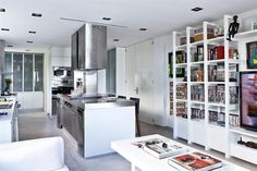 Solución 317: ideas para organizar un living-comedor con la cocina integrada - Living - ESPACIO LIVING