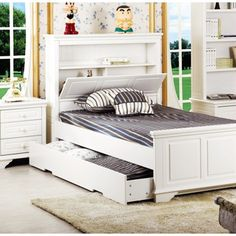 Mozart Timber Bed Frame With Trundle Option