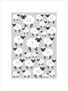 Counting Sheep Nursery Print By Leonora Hammond