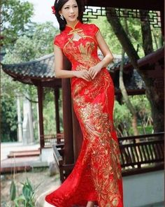 The Chinese wedding dress is a key symbol in Chinese culture as it represents love, good fortune and prosperity. Description from phase-eight.co.uk. I searched for this on bing.com/images