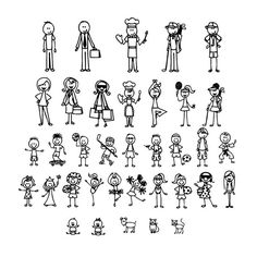 Personalized Stick Figure Family Car Stickers Interesting Motorcycle Vinyl Decals Black/Silver C7 1308-in Decals & Stickers from Automobiles & Motorcycles on Aliexpress.com | Alibaba Group