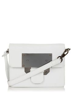 metal plate crossbody bag - Topshop