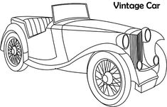 32 best classic car coloring pages