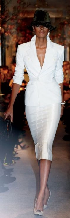 #Tom Ford White Suit #Trend All White