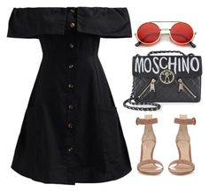 """Happy holidays"" by skajackson ❤ liked on Polyvore featuring WithChic, Moschino, ZeroUV and Gianvito Rossi"