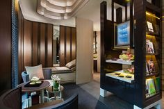 Located adjacent to the hotel's pool area, the spa's design draws inspiration from Singapore's rich past to create a tranquil sanctuary in which to enjoy a range of indulgent treatments.    Pin provided by Mandarin Oriental, Singapore: http://www.mandarinoriental.com/singapore/luxury-spa/