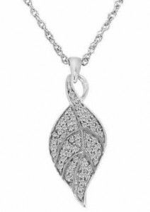 CLICK HERE for Free Shipping on a Sterling Silver 1/4ct TDW Diamond Leaf Pendant for $59 at http://mother-gifts.net/mother-gifts-discounts-and-promotions over three hundred dollar Savings! Valid until 9th Oct 2012