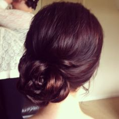 Wedding hair by Lisa Cameron north east wedding hairdresser stylist hair up ideas bride bridal bridesmaids look venue Newcastle northumberland bun side updo brown hair Party Hairstyles, Trendy Hairstyles, Wedding Hairstyles, Wedding Hair And Makeup, Bridal Hair, Hair Makeup, Mother Of The Bride Hair, Blonde Color, Ombre Hair