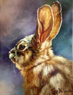 """Daily Paintworks - """"Bunny Face"""" by Joye DeGoede"""