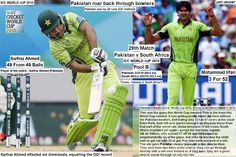 ICC WORLD cUP 2015:  Pakistan v South Africa, World Cup 2015, Group B, Auckland, March 7, 2015  Pakistan roar back through bowlers