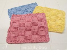 Knit, cotton washcloths are handy in both the kitchen and the bath. They make thoughtful gifts for baby showers, housewarmings or anyone who deserves a little p