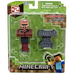 This is the Minecraft Villager Blacksmith action figure. With Minecraft's recent purchase by Microsoft for a paltry 2.5 billion dollars, it's safe to say the the veritable power house video game franc