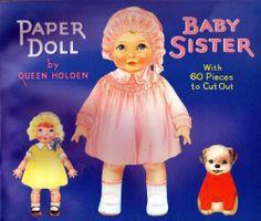 Vintage Paper Dolls Baby Sister Queen Holden Merrimack