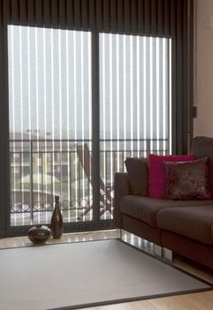 Vertical blinds are the traditional window treatment for sliding glass doors #verticalblinds