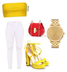 """""""summer, casual"""" by kmdudley on Polyvore featuring Moschino, Nasty Gal and Nixon"""