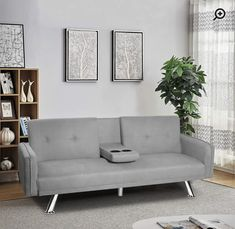 Sofa Bed With Recliner, Futon Couch, Couch Cushions, Sleeper Sofa, Bed Positions, Comfort Gray, Fabric Sofa, Linen Fabric, Living Spaces