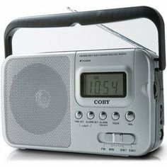 "Coby COBY AM/FM/SW RADIO W/DIGDISPLAY W/DIG DISPLAY (Personal & Portable / Radios) by Coby. $23.08. COBY AM/FM/SW RADIO W/DIGDISPLAY W/DIG DISPLAY. Receives SW 1 and SW 2 world bandsDigital LCD displayHigh-performance telescopic antennaIntegrated 3"" dynamic speakerClock and alarm functions3.5mm headphone jack2-way power with AC/DC operationDimensions: 8 3/16"" W x 4 11/16"" H x 2 5/16"" DRequires 2 D batteries (not included)"