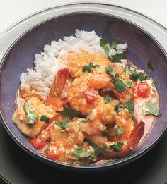 Thai Shrimp-Halibut Curry. A easy weeknight dinner (with frozen fish from Costco), and delicious at that.
