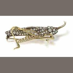 A late 19th century ruby and diamond insect brooch, Estimate: £3,000 - 4,000 US$ 4,700 - 6,300 €3,800 - 5,000