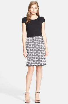 St. John Collection Rib Knit & Tapestry Knit Dress available at #Nordstrom