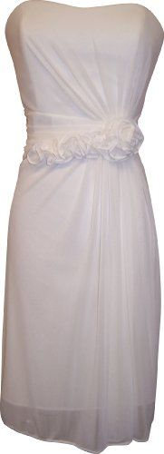 Strapless Stretch Mesh Knee-Length Gown With Florettes, Small, Ivory PacificPlex,http://www.amazon.com/dp/B004NK88VG/ref=cm_sw_r_pi_dp_l3f0sb16CC1GNVQ3