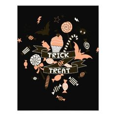 #Trick or Treat Goodies Design Card - #halloween #invitation #cards #party #parties #invitations #card